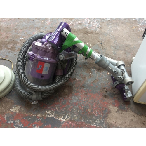 162 - A PURPLE AND GREY DYSON DC08 CYLINDER BAGLESS VACUUM CLEANER (W/O)...