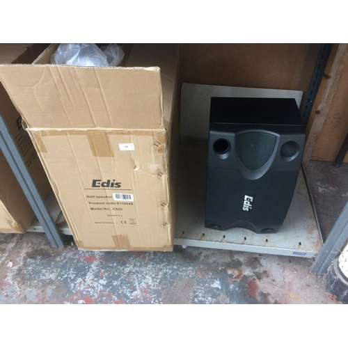 186 - A BOXED NEW PAIR OF EDIS MODEL E525 HALL SPEAKERS...