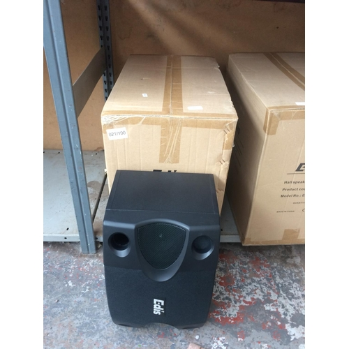 188 - A BOXED NEW PAIR OF EDIS MODEL E525 HALL SPEAKERS...