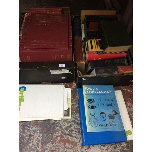 257 - TWO BOXES CONTAINING A LARGE QUANTITY OF MEDICAL BOOKS...