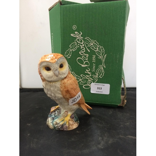 313 - A BESWICK OWL FIGURINE...