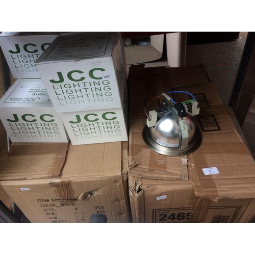 32 - A LARGE QUANTITY OF BOXED NEW JCC LIGHTING INDUSTRIAL OFFICE DOWNLIGHTERS (W/O)...