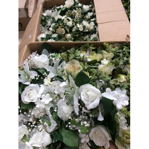 323 - THREE BOXES CONTAINING ARTIFICIAL FLOWERS...