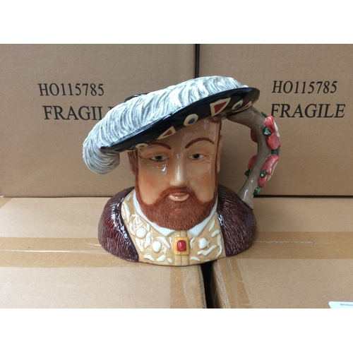 338 - EIGHT BOXED ROYAL WORCESTER HENRY VIII CHARACTER JUGS...