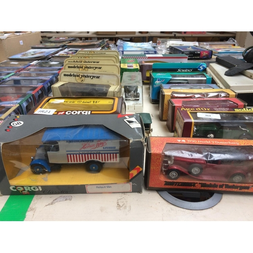 364 - A COLLECTION OF VARIOUS MODEL VEHICLES TO INCLUDE MATCHBOX MODELS OF YESTERYEAR, CORGI, EDDIE STOBAR...
