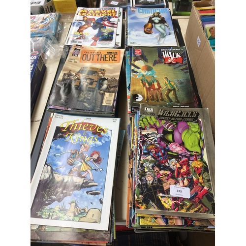 373 - A LARGE COLLECTION OF VARIOUS COMICS TO INCLUDE MARVEL, VALIANT ETC...