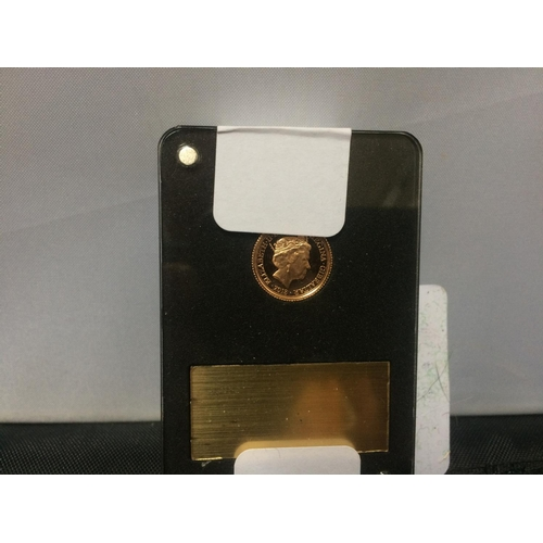 410 - A ST.GEORGE AND THE DRAGON GOLD HALF AND QUARTER PROOF SOVEREIGN TWIN COIN SET...
