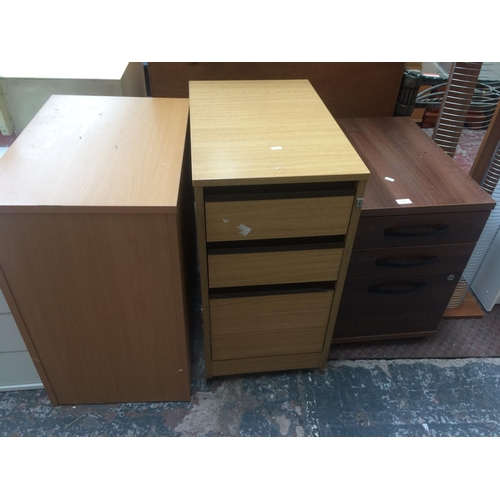 462 - THREE MODERN OFFICE FILING CABINETS...