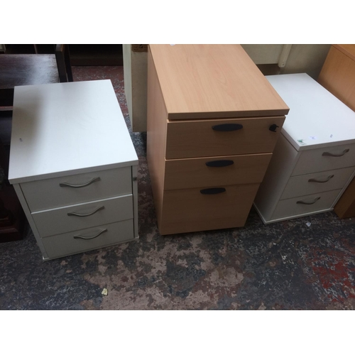 463 - THREE MODERN OFFICE FILING CABINETS...