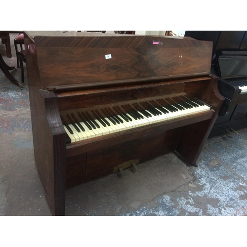 509 - A BENTLEY MAHOGANY X STRUNG PIANO...