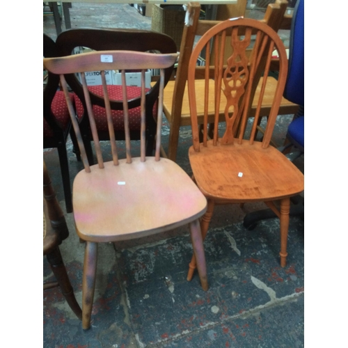 527 - TWO VARIOUS DINING CHAIRS...