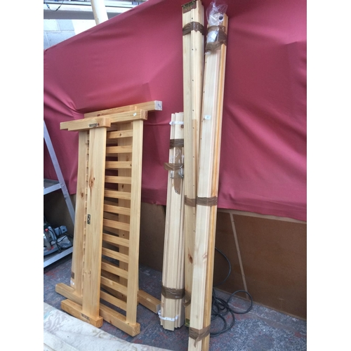546 - TWO PINE DOUBLE BED FRAMES...