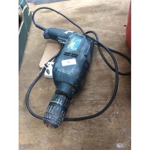 83 - A POWERCRAFT EHD850E MAINS ELECTRIC HEAVY DUTY DRILL (W/O)...