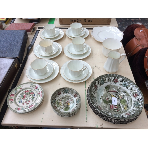 358 - A COLLECTION OF CERAMICS TO INCLUDE A PHOENIX CHINA TEA SET, ENGLISH COUNTRY SCENES CHINA AND JOHNSO...