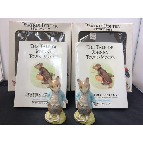 310 - TWO BOXED ROYAL ALBERT BEATRIX POTTER FIGURINES...