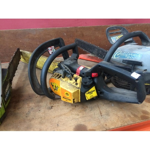 54 - A BLACK AND YELLOW MCCULLOCH 330 PETROL CHAINSAW WITH 17