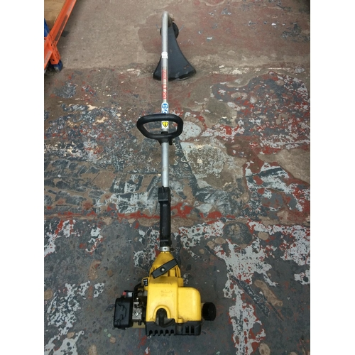 57 - A BLACK AND YELLOW ALKO MODEL LT250 PETROL GARDEN STRIMMER (W/O)...