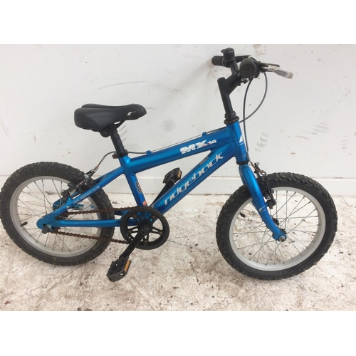8 - A BLUE RIDGEBACK MX16 BOYS BMX...