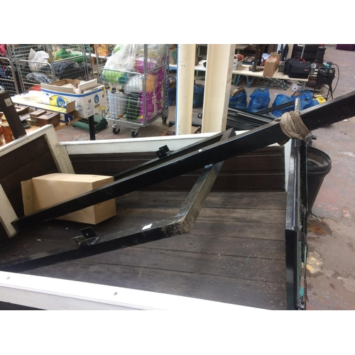 25A - A 5' X 3' BLACK PAINTED METAL TRAILER CHASSIS...