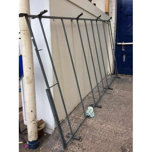 28A - A LARGE GALVANISED FORD TRANSIT VAN ROOF RACK WITH LOADING ROLLER...