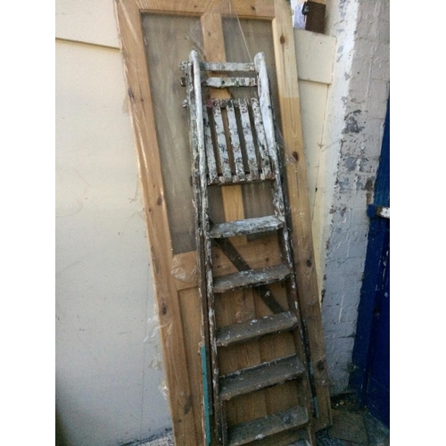 24A - THREE ITEMS TO INCLUDE A NEW PINE INTERIOR PANEL DOOR MEASURING APPROX 78