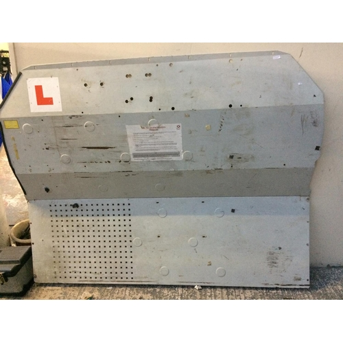 26 - A GREY METAL FORD TRANSIT MEDIUM WHEELBASE, MEDIUM TOP BULKHEAD...