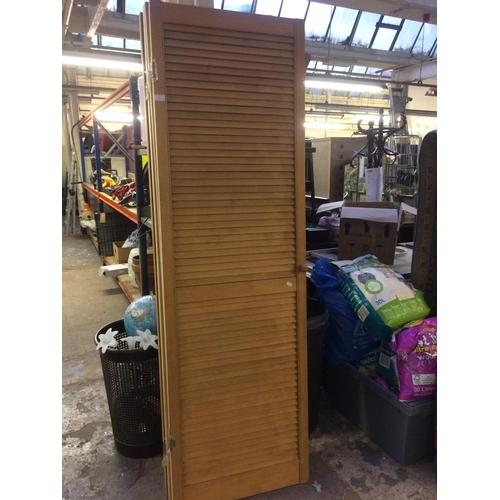 36 - FOUR PINE LOUVRE DOORS MEASURING APPROX 78