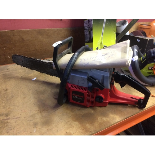 51 - A BLACK RED AND SILVER JONSERED 535 CLASSIC PETROL CHAINSAW WITH 15