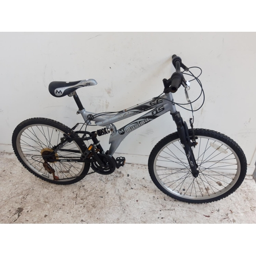 1 - A BLACK AND GREY MAXIMA STORM SE DUAL SUSPENSION BOYS MOUNTAIN BIKE WITH QUICK RELEASE FRONT WHEEL A...