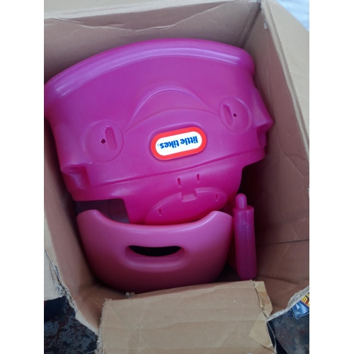 12 - A BOXED PINK LITTLE TIKES COUPE RIDE ON CAR...