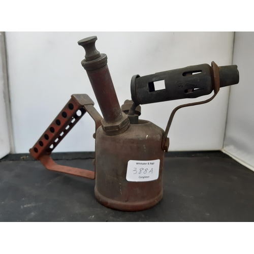 388A - A VINTAGE COPPER AND BRASS BLOW TORCH...