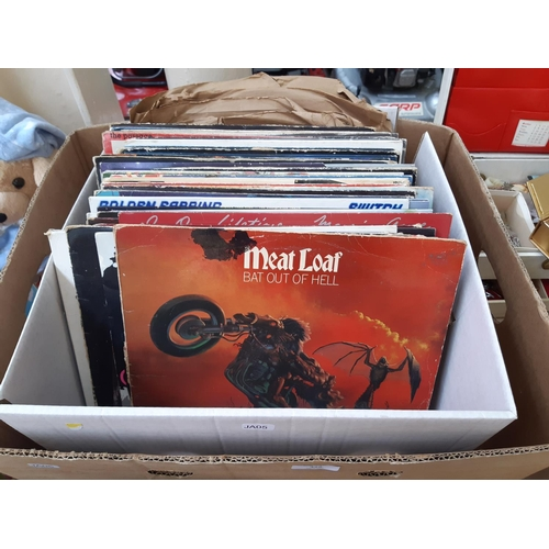 429 - A BOX CONTAINING A LARGE COLLECTION OF VARIOUS LP RECORDS TO INCLUDE MEAT LOAF BAT OUT OF HELL, QUEE...