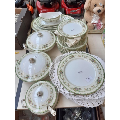 432 - A THIRTY NINE PIECE NORITAKE PART DINNER SERVICE COMPRISING TUREENS, DINNER PLATES, SIDE PLATES ETC....