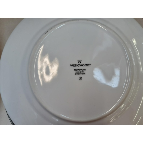439 - FIFTEEN PIECES OF WEDGWOOD METROPOLIS PATTERN DINNERWARE...