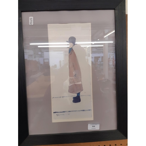 533 - A BLUE FRAMED L.S LOWRY PRINT...