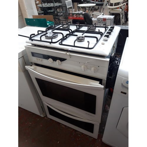 250 - TWO ITEMS TO INCLUDE A ZANUSSI WHITE ENAMEL GAS HOB TOGETHER WITH A DEDIETRICH ELECTRIC OVEN WITH FA...