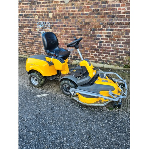 "A Stiga park 740 PWX 4WD ride on lawn mower with 110cm Pro EL deck with light use (232 hours).  This mower has 4WD hydrostatic transmission, 11cm pro ""Quick Flip"" deck with electronic blade engagement and a Briggs and Stratton Vanguard 18 Twin Cylinder 570cc engine - RRP £7323"