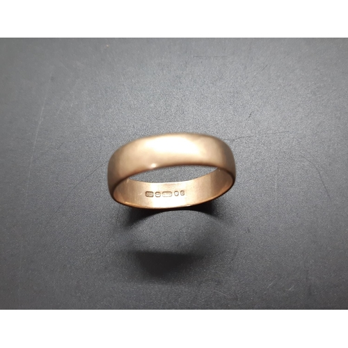12 - A hallmarked London 9ct gold wedding band - approx total weight 3.59 grams and size X...
