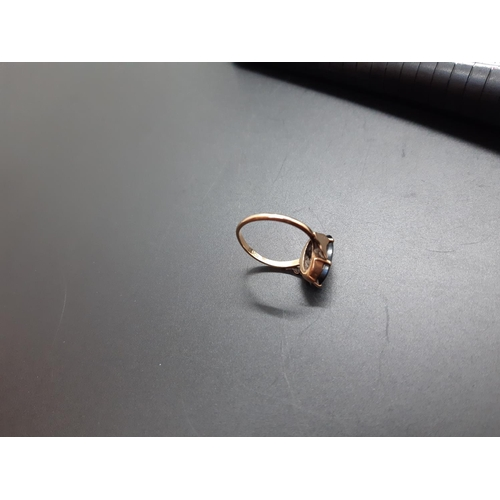 13 - A 9ct gold initial ring - approx total weight. 2 grams and size J ½...