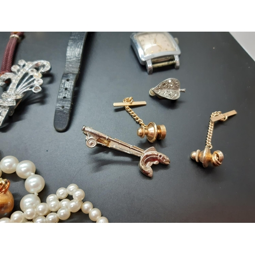 17 - A collection of various costume jewellery and watches...