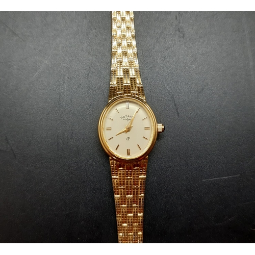 24 - A cased Rotary gold plated ladies wristwatch...