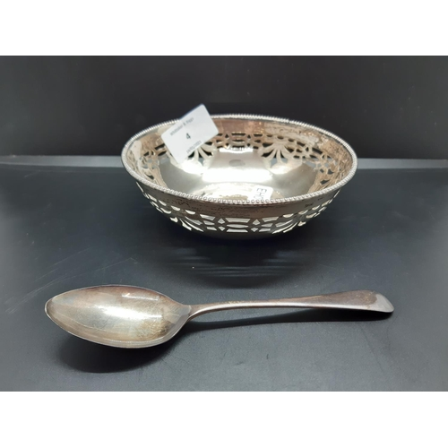 4 - Two hallmarked silver items to include a Birmingham pierced bowl - approx. 69.36 grams and 12.5cm di...