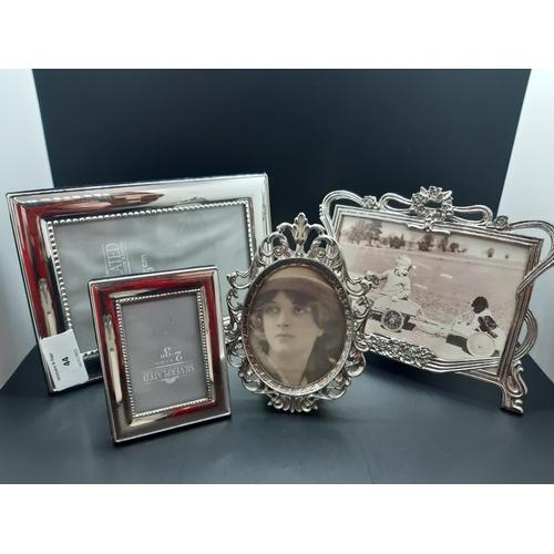 44 - Five various photo frames...