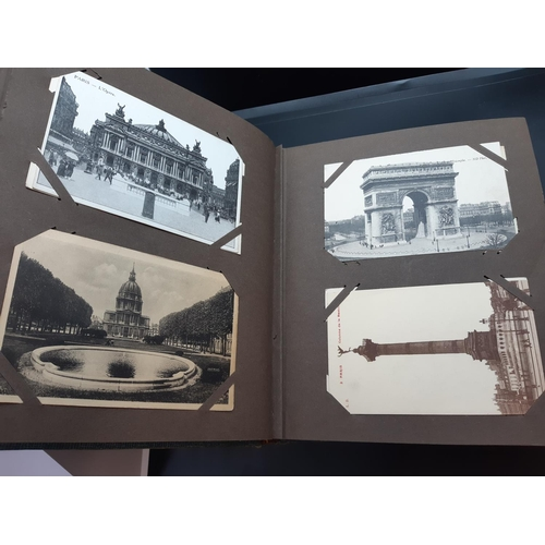 45 - A postcard album with contents to include automobilia and architectural examples...