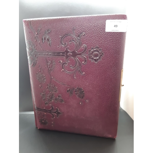 49 - A Victorian photo album with contents...