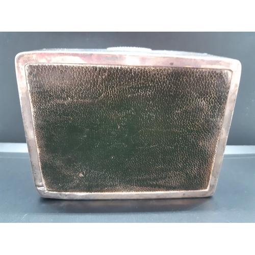 6 - A hallmarked English silver cigarette box - approx. 11.5cm x 5cm x 8.5cm...