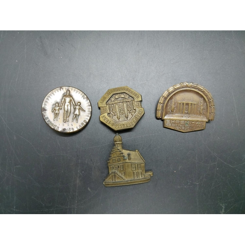 17 - A collection of German Third Reich day badges all with pins