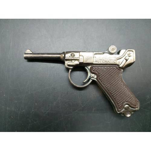 20 - Two Redondo miniature cap pistols, one WWII German Luger and one P38