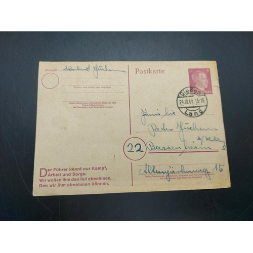 21 - A collection of WWII German Field Post from Gefr. Herbert Fuchem 34570 of the Wehrmacht