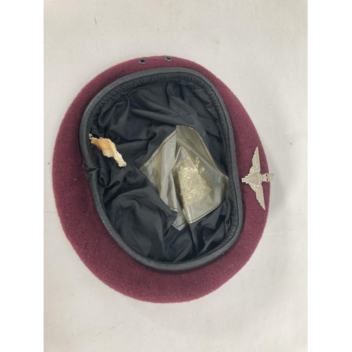 30 - Two items, one Para beret with badge and one Royal Ordnance Corp beret with badge